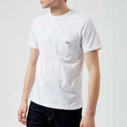 Maison Kitsuné Men's T-Shirt Tricolor Fox Patch - White