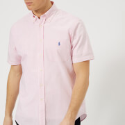Polo Ralph Lauren Men's Seersucker Stripe Shirt - Pink/White