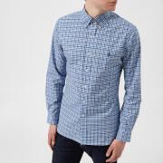Polo Ralph Lauren Men's Poplin Checked Long Sleeve Shirt - Blue