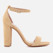 Steve Madden Women's Carrson Suede Barely There Heeled Sandals - Sand