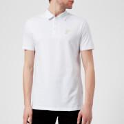 Versace Collection Men's Small Logo Polo Shirt - White/Gold
