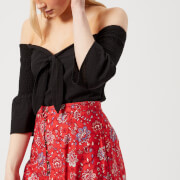 MINKPINK Women's Say It Right Smocked Sleeve Top - Black
