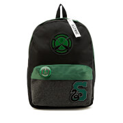 Harry Potter Slytherin House Backpack with Patches - Black