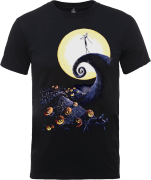 The Nightmare Before Christmas Jack Skellington Pumpkin King Colour Black T-Shirt