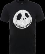 The Nightmare Before Christmas Jack Skellington Crinkle Schwarz T-Shirt