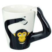 Parlane Monkey Mug - White/Black