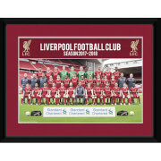 Liverpool Team Photo 17/18 Framed Photograph 8 x 6 Inch