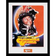 Clockwork Orange Key Art Orange Framed Photograph 12 x 16 Inch
