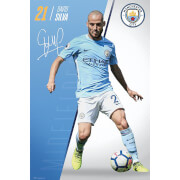 Manchester City Silva 17/18 Maxi Poster 61 x 91.5cm