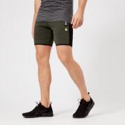 Superdry Sport Men's Stripe Slim Shorts - Dessert Olive Marl