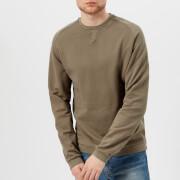 Universal Works Men's Crew Neck Loop Back Jersey Sweatshirt - Warm Stone