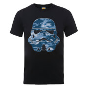 Star Wars Stormtrooper Blue Camo T-Shirt - Black