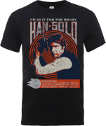 Star Wars Han Solo Retro Poster T-Shirt - Black