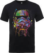 Star Wars Paint Splat Stormtrooper T-Shirt - Schwarz