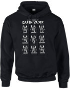 Star Wars Many Faces Of Darth Vader Pullover Hoodie - Black