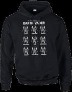 Star Wars Many Faces Of Darth Vader Pullover Hoodie - Black