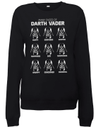 Star Wars Many Faces Of Darth Vader Womens Pullover - Schwarz
