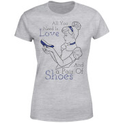 Disney Princess Cinderella All You Need Is Love Women's T-Shirt - Grey
