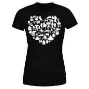 Star Wars Valentine's Heart Montage Women's T-Shirt - Black