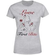 T-Shirt Femme Love At First Bite - Blanche - Neige (Princesse Disney) - Gris