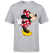 Disney Mickey Mouse Minnie Split Kiss T-Shirt - Grey