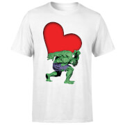 Marvel Comics Hulk met Hart T-shirt - Wit