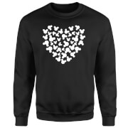 Disney Mickey Mouse Heart Silhouette Sweatshirt - Black