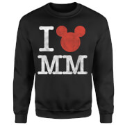 Disney Mickey Mouse I Heart MM Pullover - Schwarz