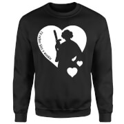 Sweat Homme Leia I'd Rather Kiss A Wookie (Star Wars) - Noir