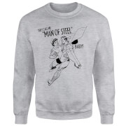 DC Comics Superman Valentines Steel Baby Sweatshirt - Grey