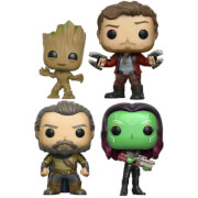 Lot de 4 Figurines Pop! Groot, Star-Lord, Ego et Gamora - Les Gardiens de la Galaxie Marvel