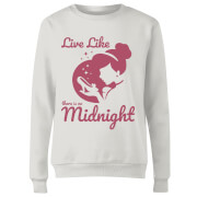 Disney Princess Midnight Women's Sweatshirt - White