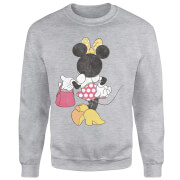 Disney Mickey Mouse Minnie Mouse Back Pose Pullover - Grau