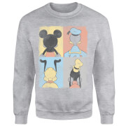 Disney Mickey Mouse Donald Duck Mickey Mouse Pluto Goofy Tiles Pullover - Grau