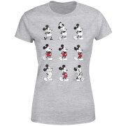 Camiseta Disney Mickey Mouse Evolución 9 Poses - Mujer - Gris