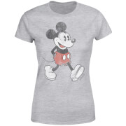 Disney Mickey Mouse Lopend Dames T-shirt - Grijs