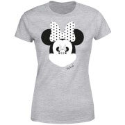 Disney Minnie Mouse Spiegel Illusie Dames T-shirt - Grijs