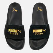 Puma Men's Leadcat Suede Slide Sandals - Puma Black/Puma Team Gold
