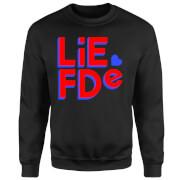Liefde Block Sweatshirt - Black