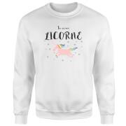Tu Es Ma Licorne Sweatshirt - White