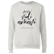 We Came. We Saw. We Loved. Frauen Pullover - Weiß