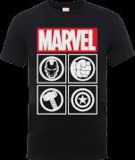 T-Shirt Homme Marvel Avengers Assemble - Icons - Noir