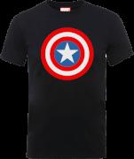 Marvel Avengers Assemble Captain America Simple Shield T-shirt - Zwart