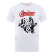 Marvel Avengers Team Burst T-Shirt - Weiß