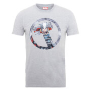 Marvel Avengers Assemble Thor Montage T-Shirt - Grey