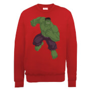Marvel Avengers Assemble Hulk Pose Sweatshirt - Red