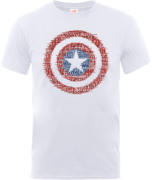 Marvel Avengers Assemble Captain America Super Soldier T-Shirt - Weiß
