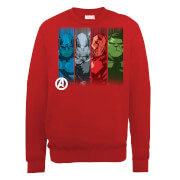 Marvel Avengers Assemble Team Poses Sweatshirt - Red