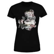 Disney Beauty And The Beast Happiness Women's T-Shirt - Black