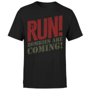 RUN! Zombies Are Coming! T-Shirt - Black